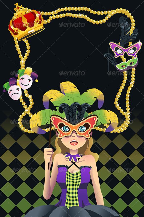Mardi Gras Background - Decorative Vectors