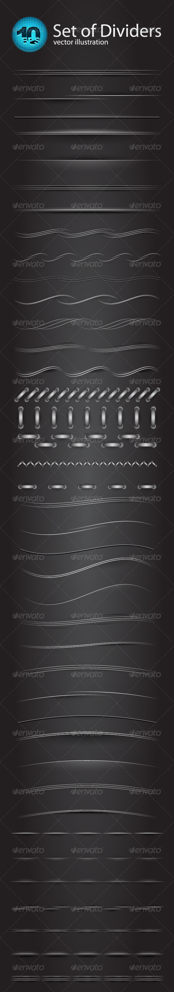 Vector divider set - Borders Decorative
