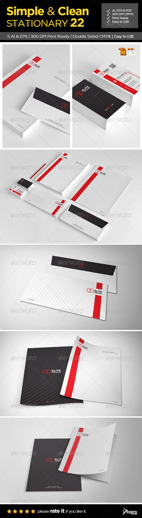 Simple and Clean Stationary 22 - Stationery Print Templates