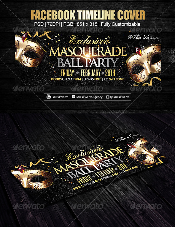 Exclusive Masquerade Ball Facebook Cover - Facebook Timeline Covers Social Media