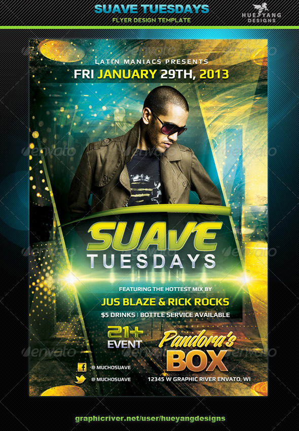 Suave Tuesdays Flyer - Clubs & Parties Events