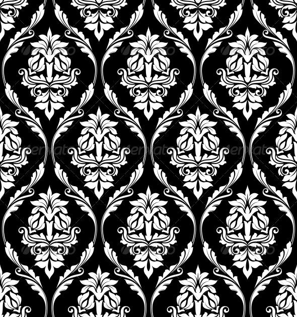 Damask-Style Pattern - Patterns Decorative