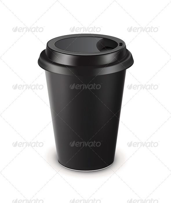 Disposable Coffee Cup - Food Objects