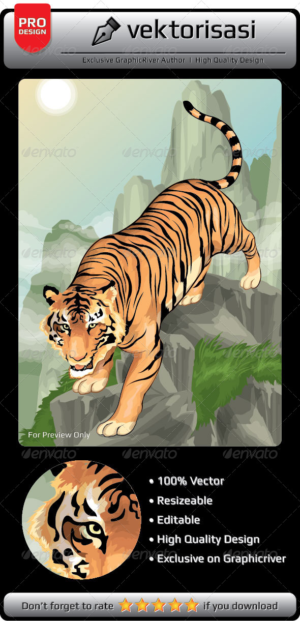 Tiger Vector - Animals Characters
