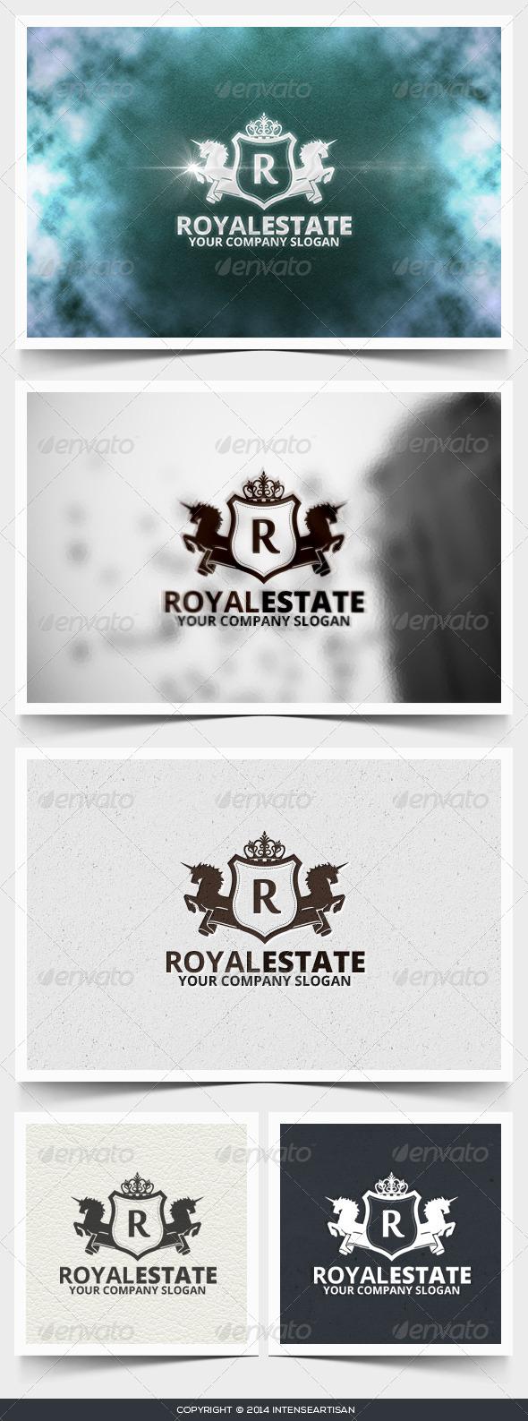 Royal Estate Logo Template - Crests Logo Templates