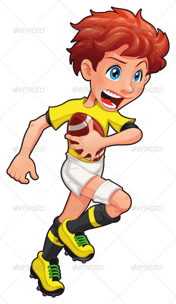 Rugby player.  - Sports/Activity Conceptual