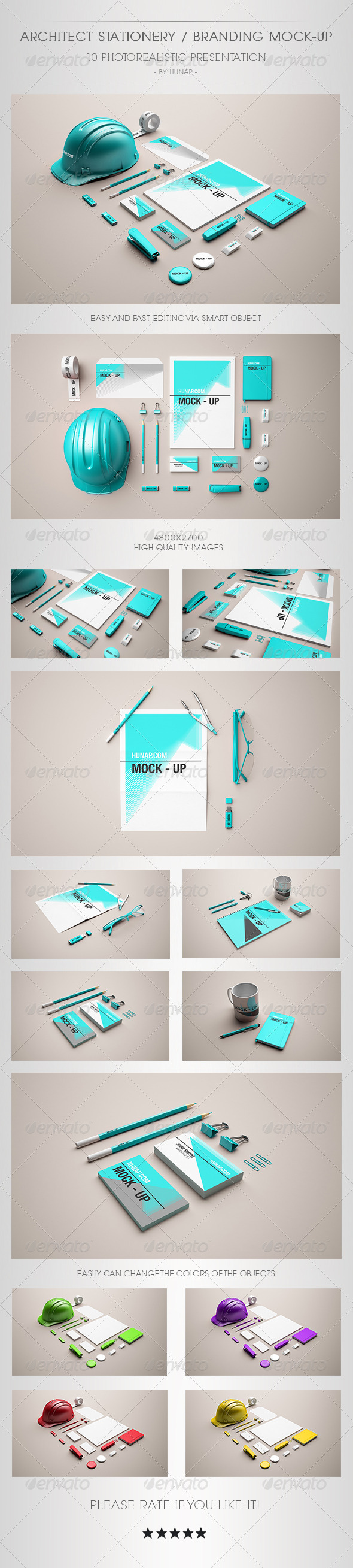 Architect Stationery Mock-Up - Stationery Print