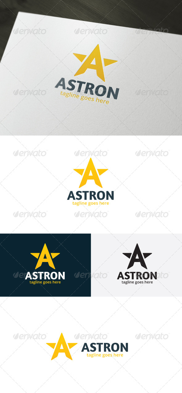 Astron Logo — Letter A - Letters Logo Templates