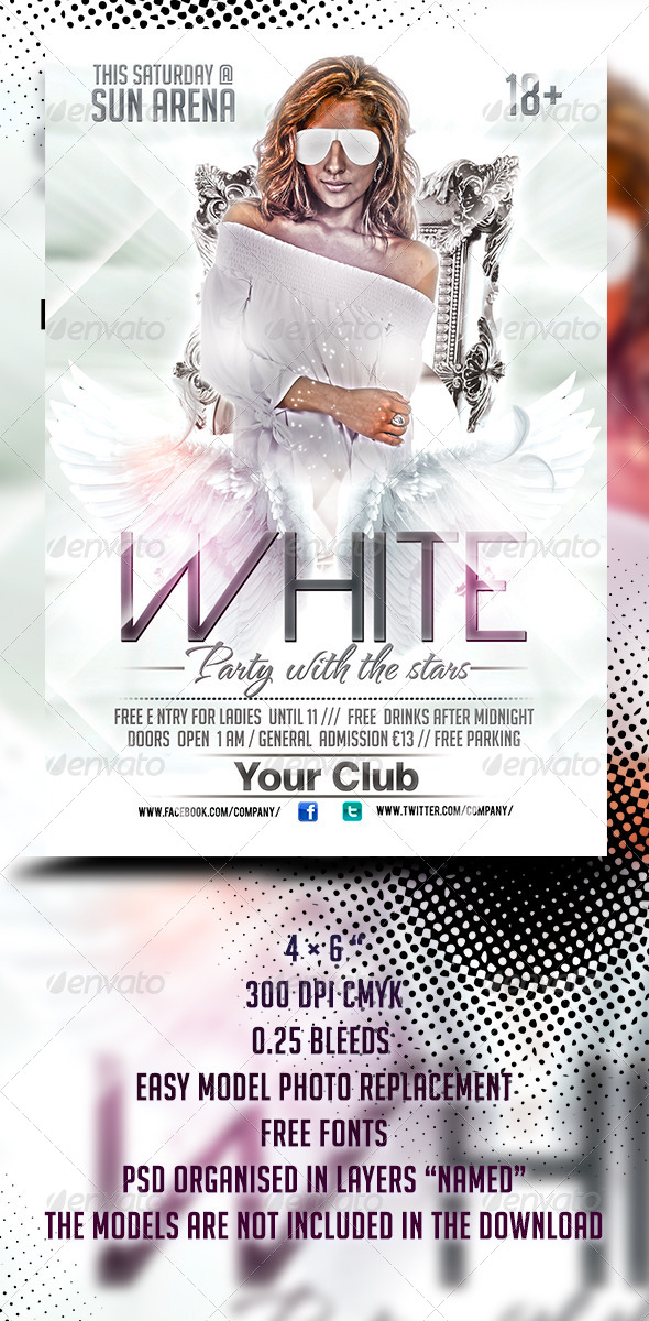 Sexy White Party Flyer Template By Stormclub Graphicriver