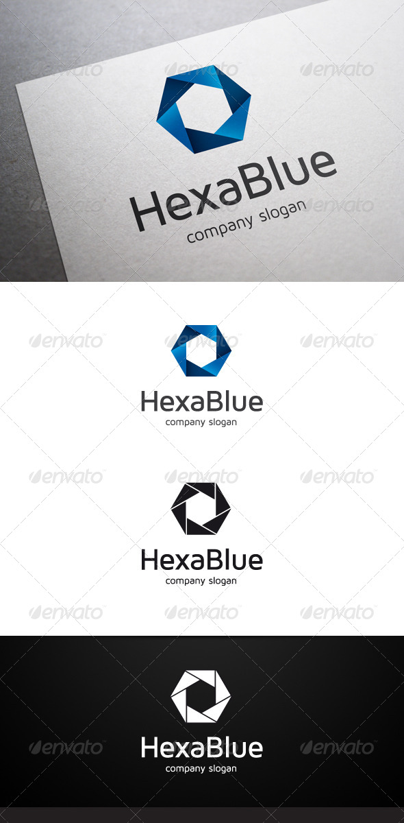 Hexa Blue Logo - Abstract Logo Templates
