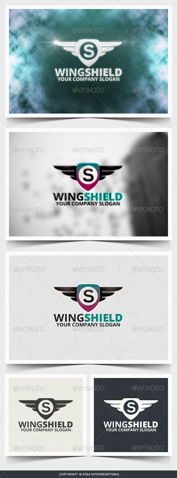 Wing Shield Logo Template - Objects Logo Templates