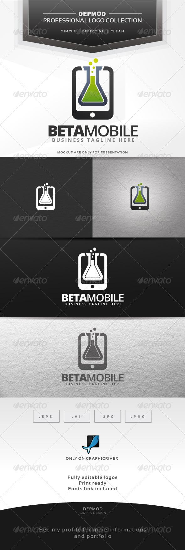 Beta Mobile Logo - Symbols Logo Templates