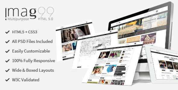 iMag99 – Magazine and Multi-purpose Theme