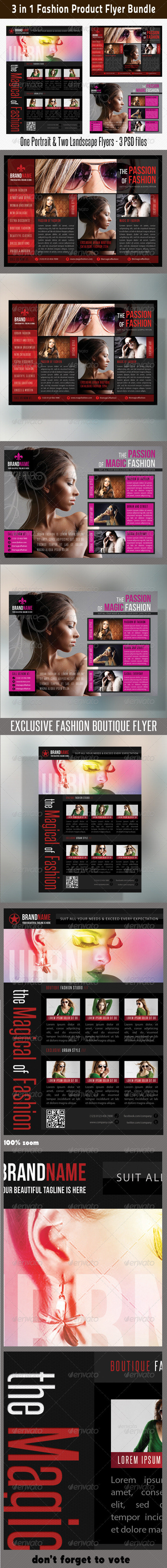 3 in 1 Fashion Product Flyer Bundle 10 - Commerce Flyers