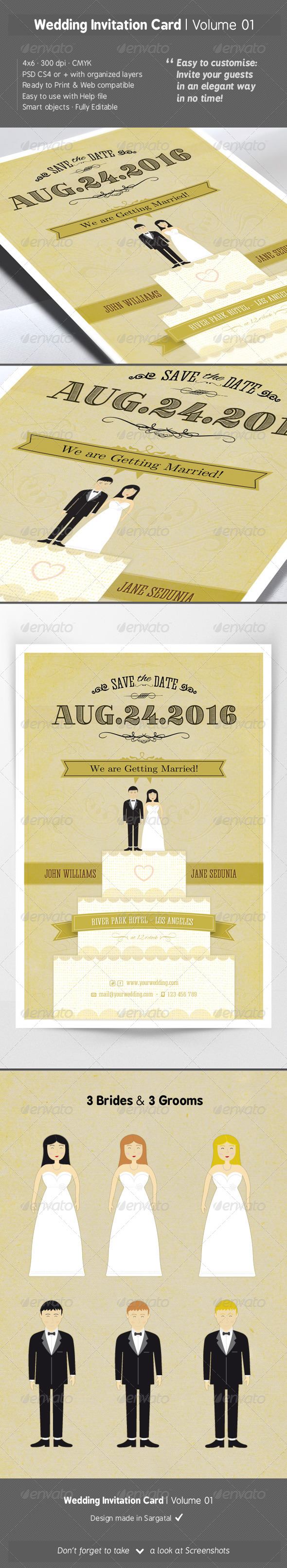 Wedding Invitation Card - Volume 01 - Weddings Cards & Invites