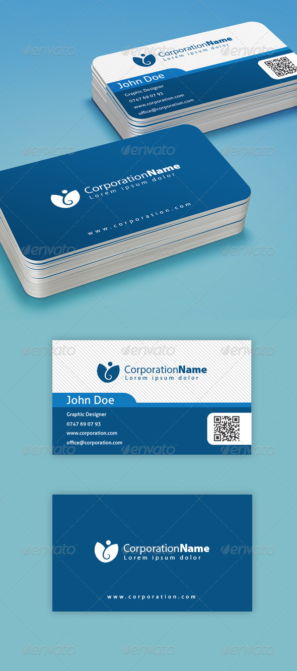 Corporation Business Card - Corporate Business Cards