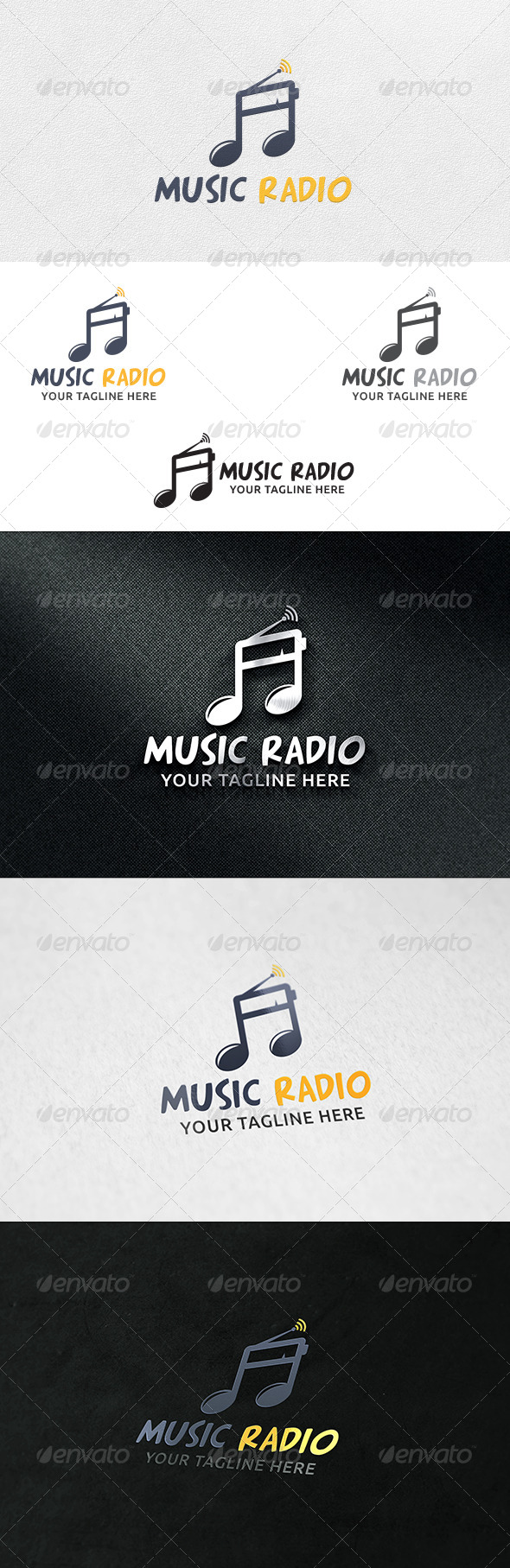 Music Radio - Logo Template - Symbols Logo Templates