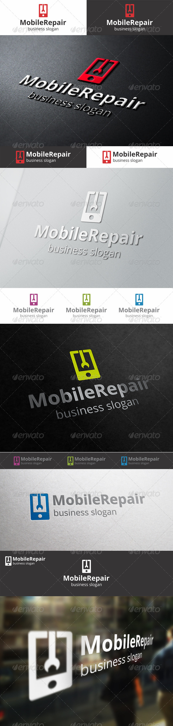 Mobile Repair Logo Template - Objects Logo Templates