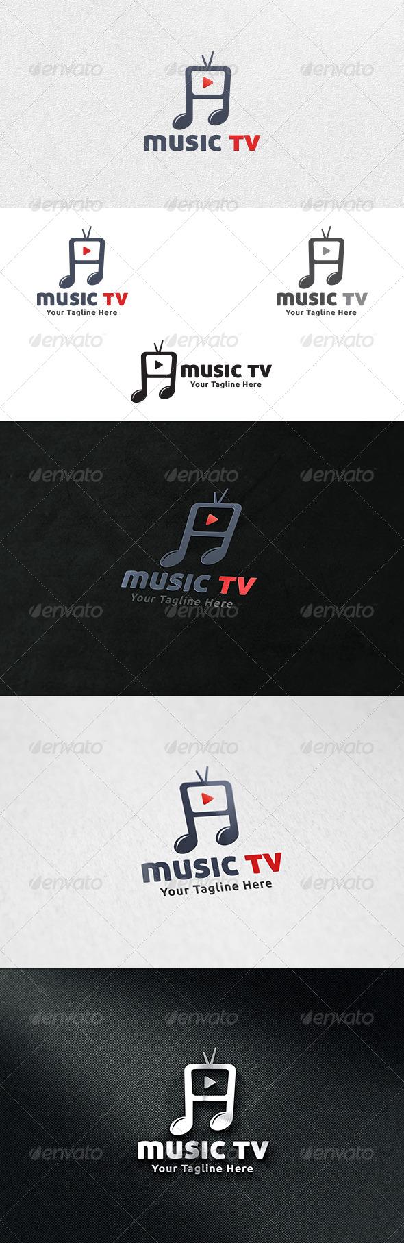 Music TV - Logo Template - Symbols Logo Templates