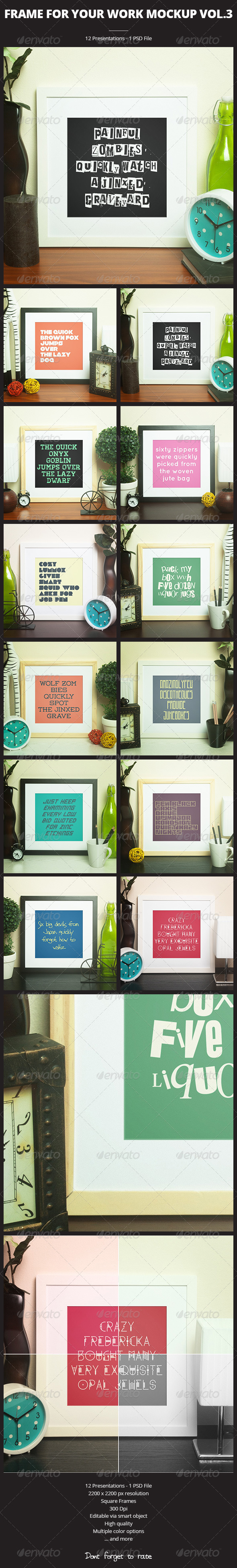 Frame For Your Work vol.3 - Print Product Mock-Ups