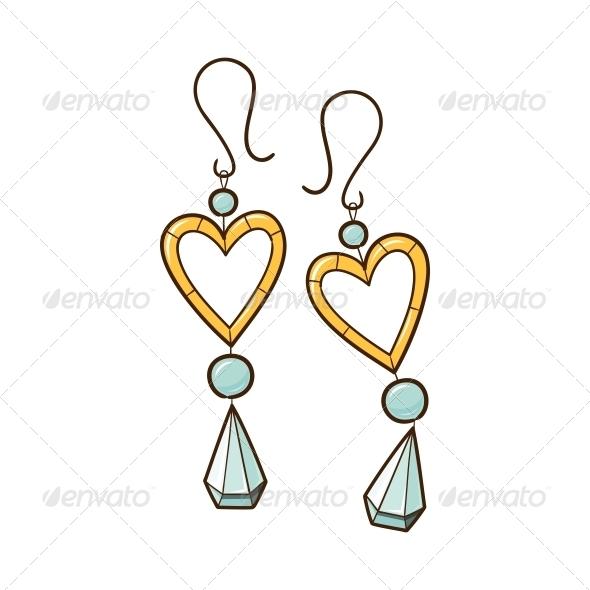 Hearts Earrings. - Valentines Seasons/Holidays
