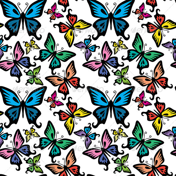 Butterfly Seamless Texture - Patterns Decorative