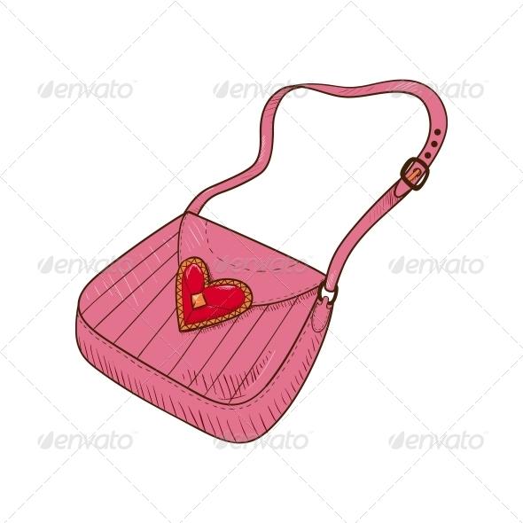 Lady's Hand Bag - Valentines Seasons/Holidays