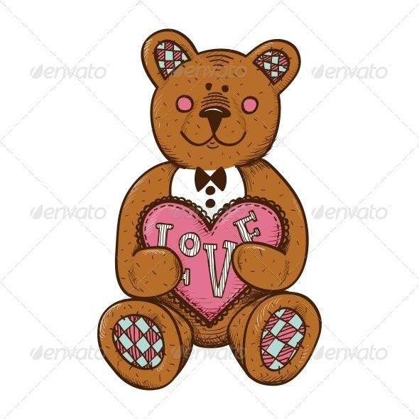 Bear with Heart - Valentines Seasons/Holidays