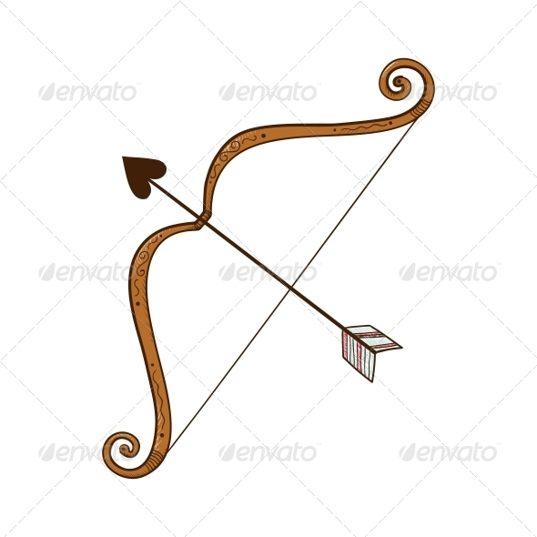Bow and Heart shaped Arrow - Valentines Seasons/Holidays