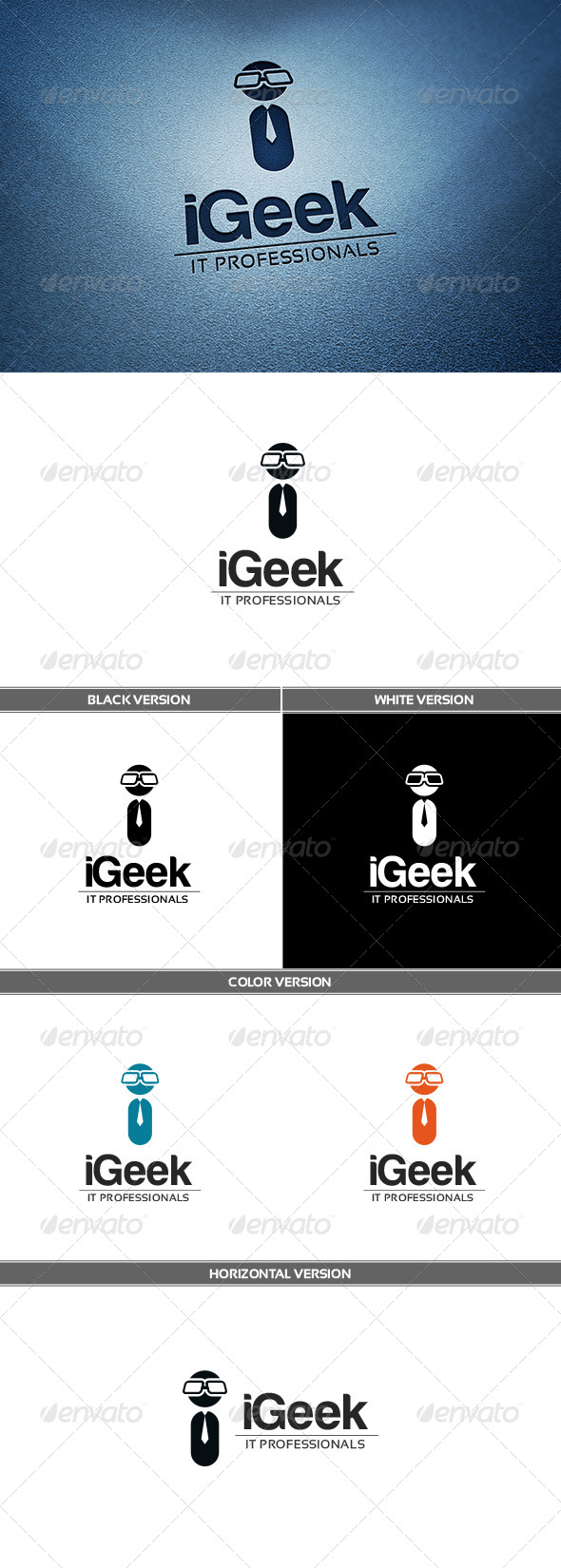 iGeek Logo - Letters Logo Templates