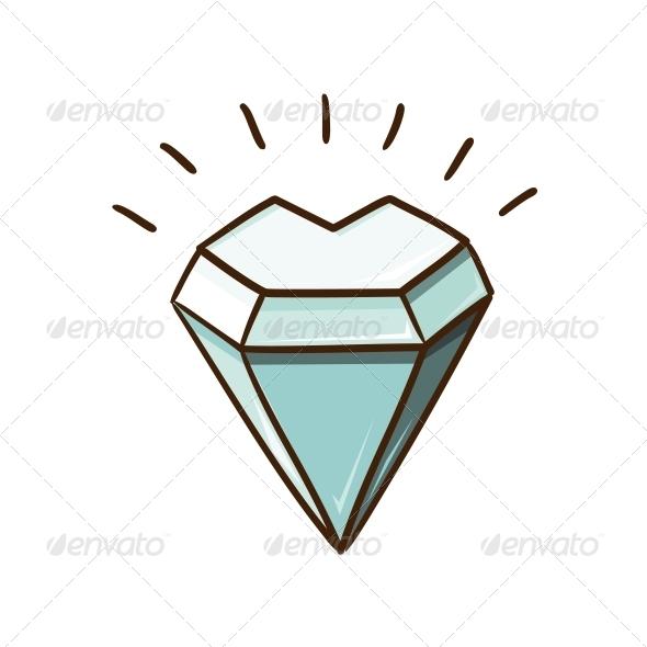 Heart Shaped Diamond Stone - Valentines Seasons/Holidays