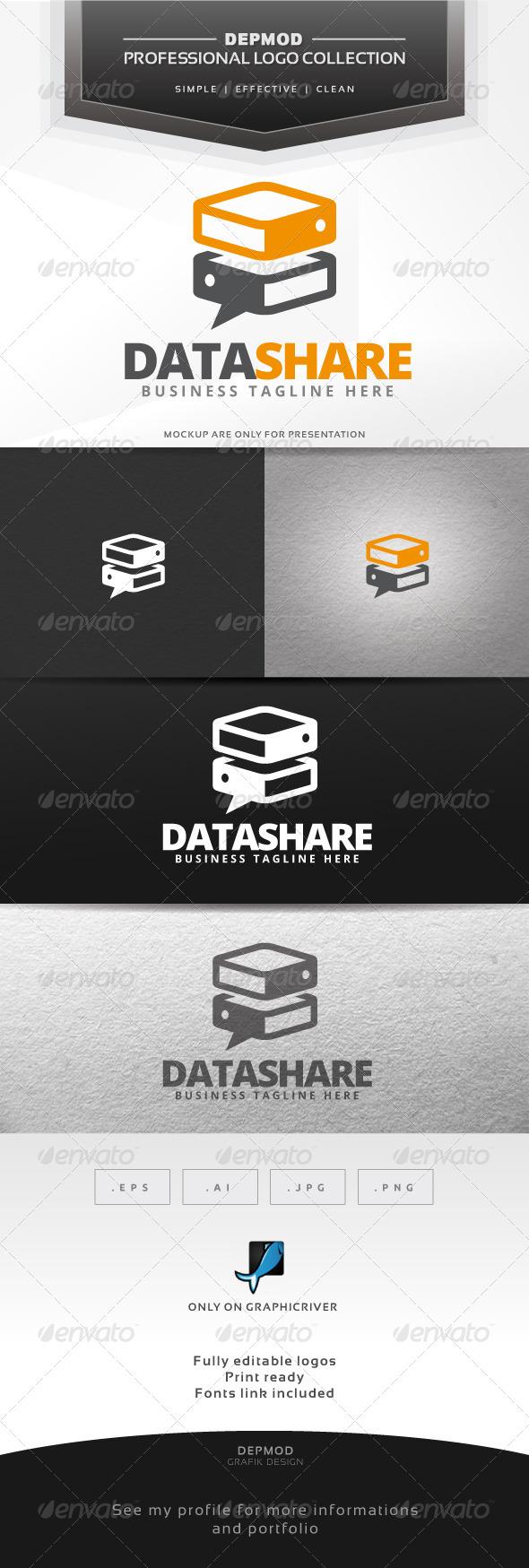 Data Share Logo - Symbols Logo Templates