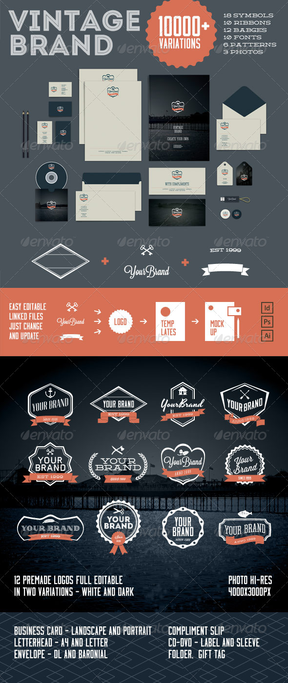 Vintage Brand 10000+ - Stationery Print Templates