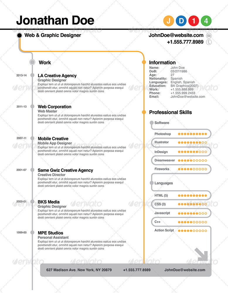 Subway Resume By Willaca Graphicriver