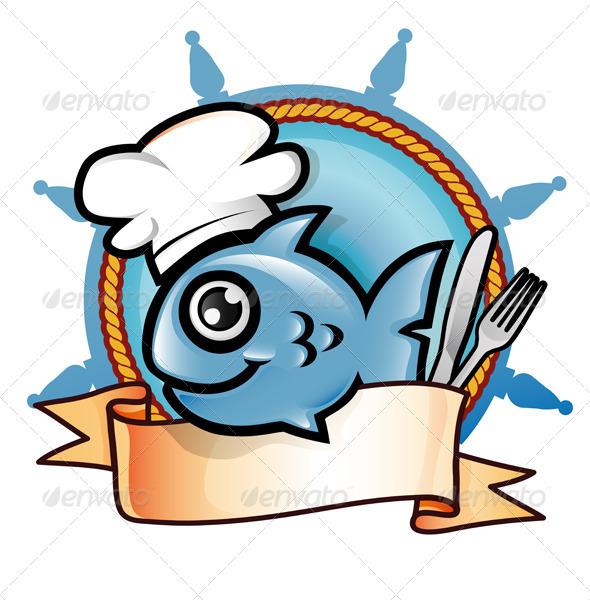 Fish Cartoon Symbol - Food Objects