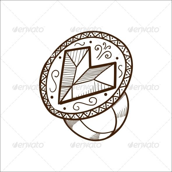 Ring with Heart Diamond - Valentines Seasons/Holidays