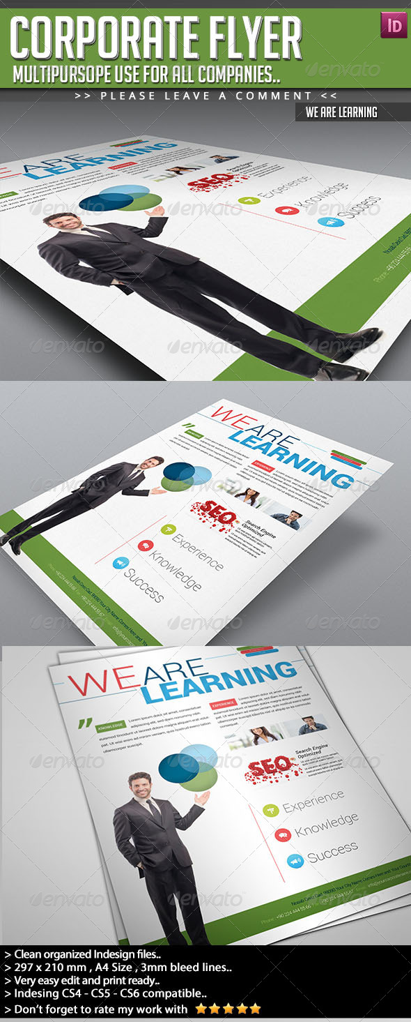 Corporate Flyer - We Are Learning - Corporate Flyers