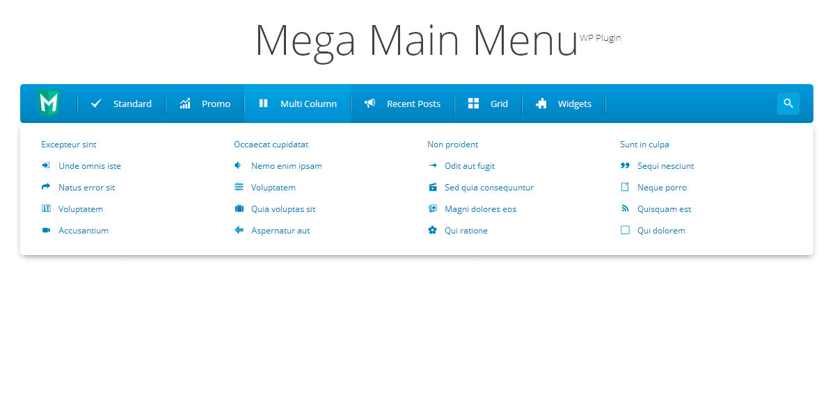 Mega Main Menu - WordPress Menu Plugin by MegaMain | CodeCanyon