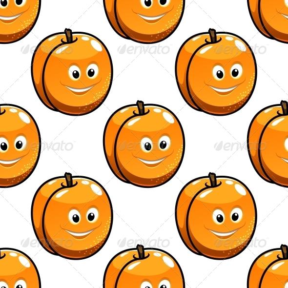 Seamless Pattern Apricot - Patterns Decorative