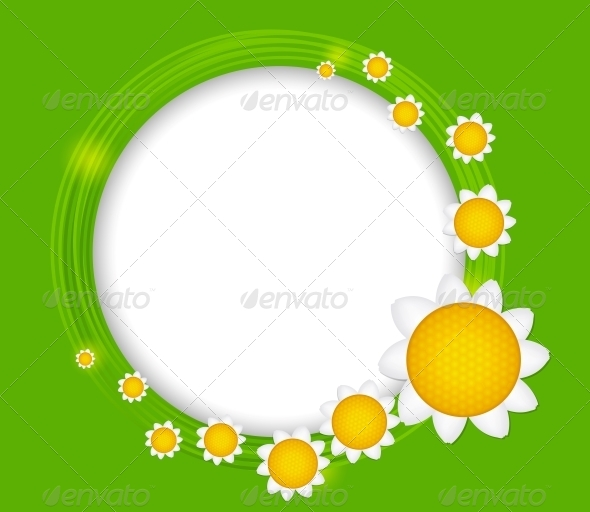 Abstract Background with Frame and Flowers - Flowers & Plants Nature