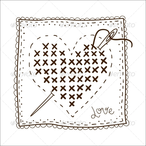 Handkerchief with Embrodery - Valentines Seasons/Holidays