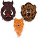 Three Wild Animal Heads - GraphicRiver Item for Sale