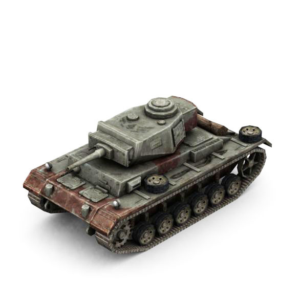 Military Modern War Light Tank (Red) - 3DOcean Item for Sale