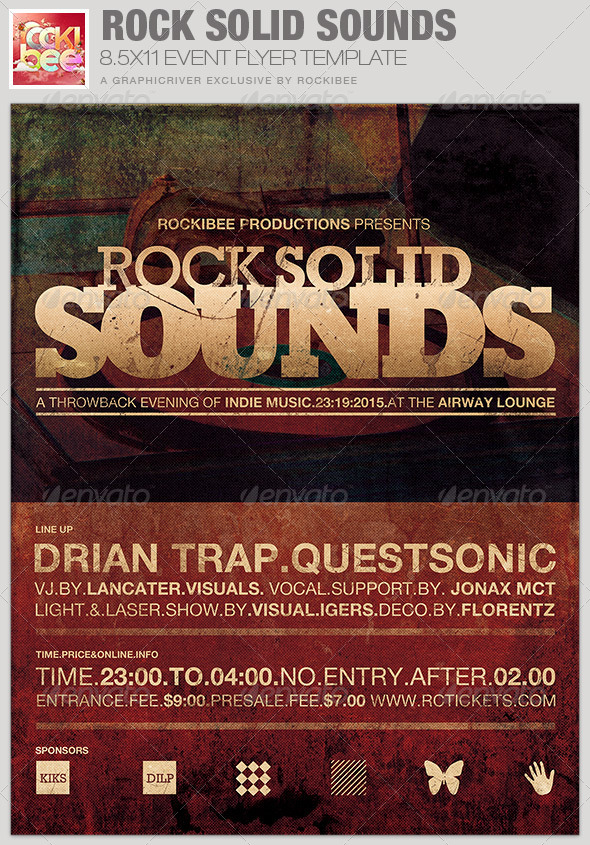 Rock Solid Sounds Event Flyer Template - Events Flyers