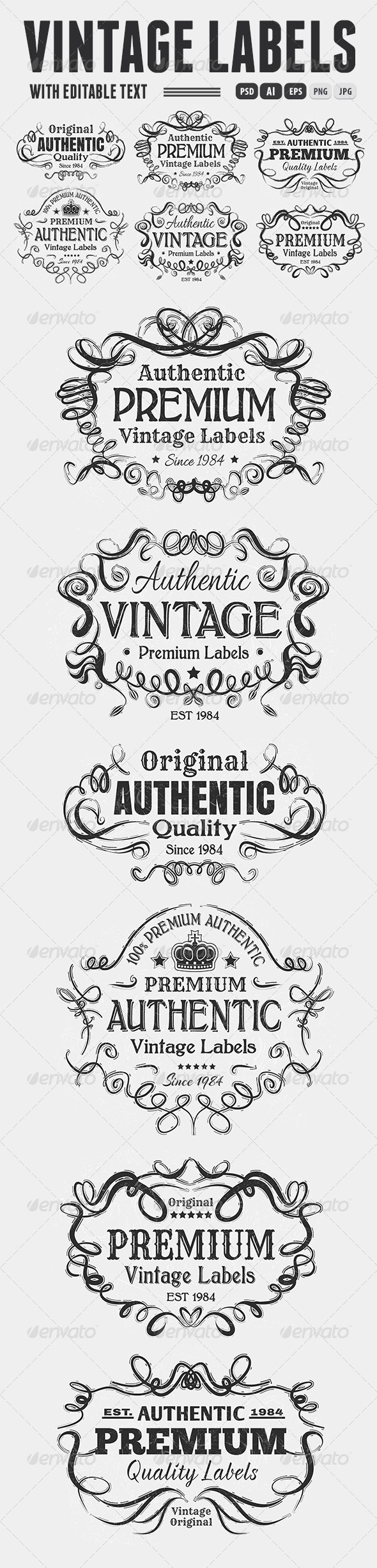 Vintage Labels - Badges & Stickers Web Elements