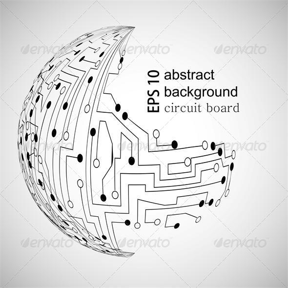 Vector Abstract Background - Web Technology