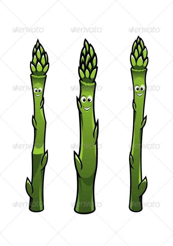 Smiling Asparagus Spears - Miscellaneous Characters