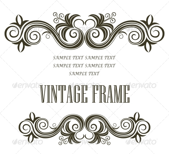 Vintage Frame - Borders Decorative