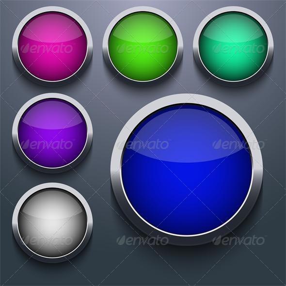 Vector Web Button Set Design - Web Technology