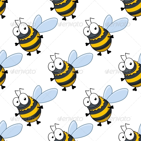 Bee Pattern - Patterns Decorative